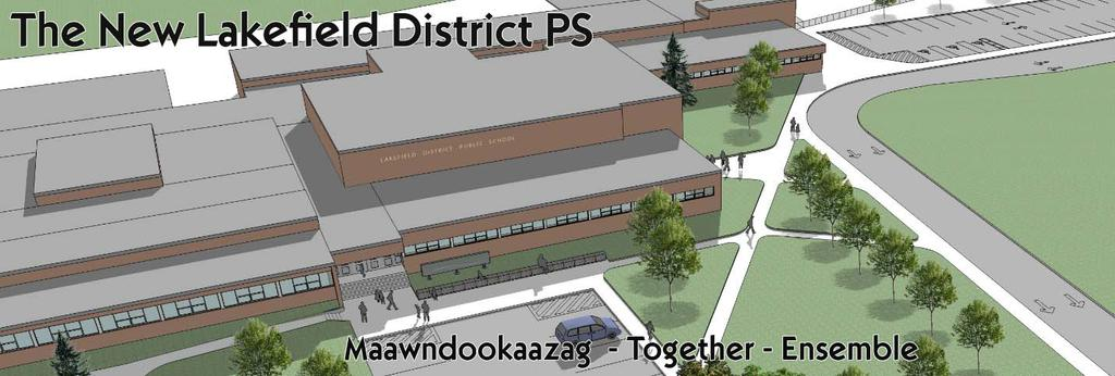 Artist's drawing of new Lakefield District Public School